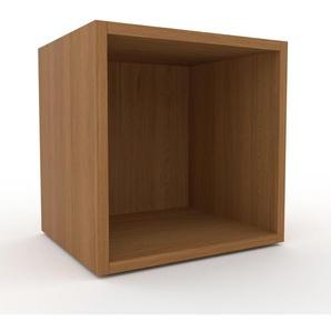 Nachtschrank Eiche, Holz - Eleganter Nachtschrank: Hochwertige Qualität, einzigartiges Design - 41 x 41 x 35 cm, konfigurierbar