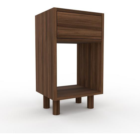 Nachtschrank Nussbaum - Eleganter Nachtschrank: Schubladen in Nussbaum - Hochwertige Materialien - 41 x 72 x 35 cm, konfigurierbar