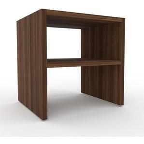 Nachtschrank Nussbaum, Holz - Eleganter Nachtschrank: Hochwertige Qualität, einzigartiges Design - 41 x 41 x 35 cm, konfigurierbar