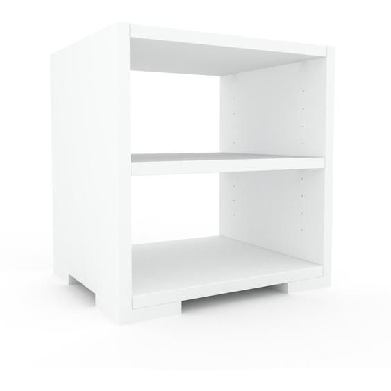 Nachtschrank Weiß - Eleganter Nachtschrank: Hochwertige Qualität, einzigartiges Design - 41 x 43 x 35 cm, konfigurierbar