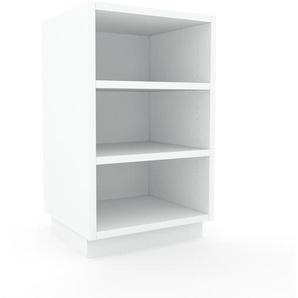 Nachtschrank Weiß - Eleganter Nachtschrank: Hochwertige Qualität, einzigartiges Design - 41 x 66 x 35 cm, konfigurierbar