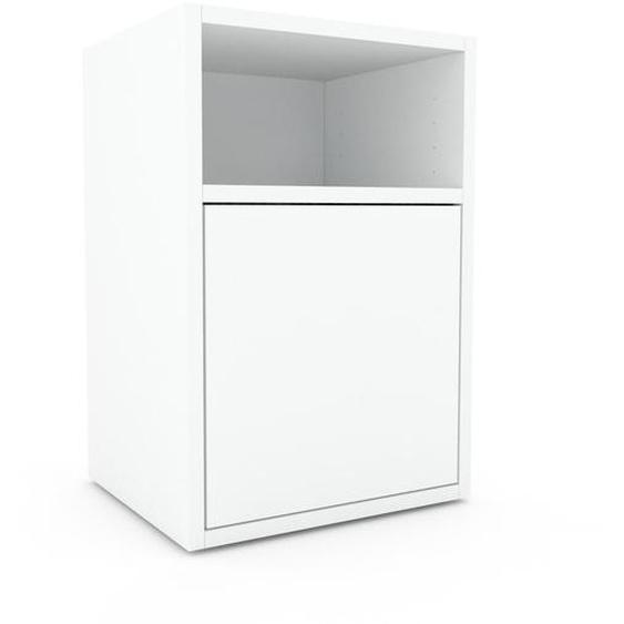 Nachtschrank Weiß - Eleganter Nachtschrank: Türen in Weiß - Hochwertige Materialien - 41 x 61 x 35 cm, konfigurierbar