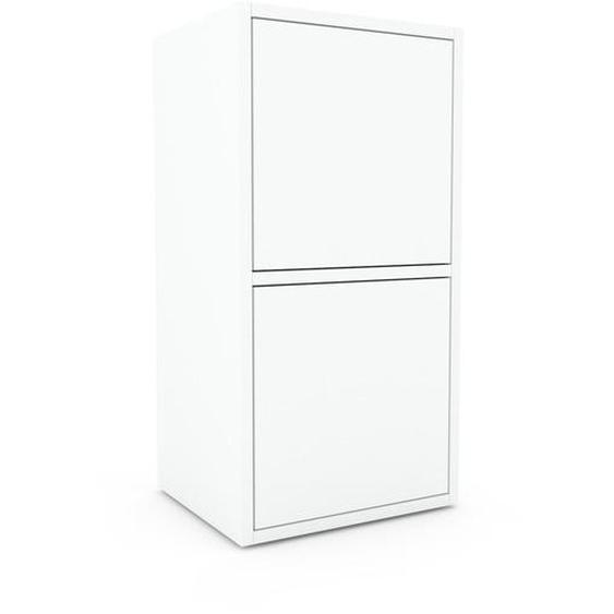 Nachtschrank Weiß - Eleganter Nachtschrank: Türen in Weiß - Hochwertige Materialien - 41 x 80 x 35 cm, konfigurierbar