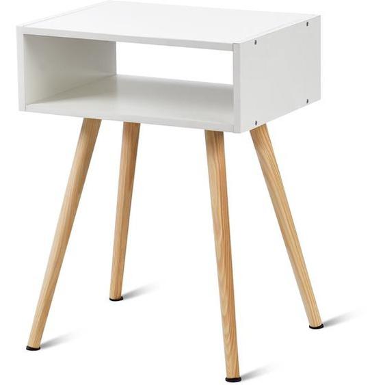 Nachttisch 40 x 30 x 44 cm Weiß Design Ablagetisch Couchtisch