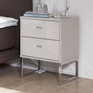 Nachttisch Crawley, creme, Höhe 47  cm, Nachttisch breit - einzeln