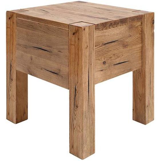 Neue Modular Nachttisch Porto-Alegre Massivholz Sumpfeiche Braun 40x45x40 cm (BxHxT)