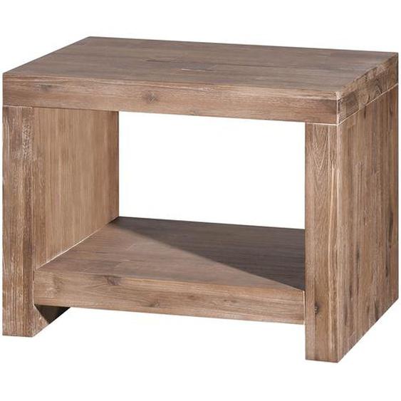 Neue Modular Nachttisch San Marcos Massivholz Akazie Natur 50x39x40 cm (BxHxT)
