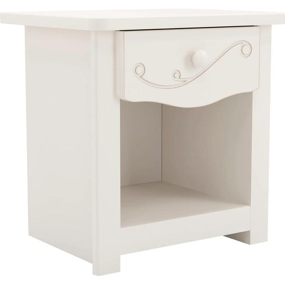 Nachttisch Sweet Tischplatte: MDF, Gestell: Spanplatte 45x35 cm weiß Kinder Kindertische Kindermöbel Tisch