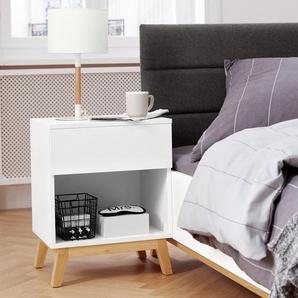 Nachttisch - weiß - Holz -