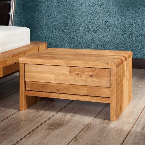 Nachttischkommode aus Wildeiche Massivholz Schublade