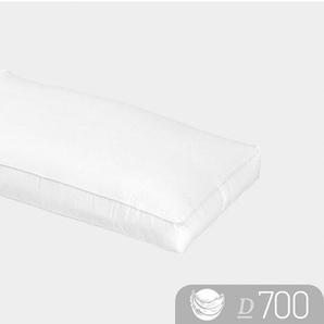 Nackenstützkissen, »D700«, Schlafstil, Füllung: Aussen:100% Gänsedaunen; Innen: 100% Gänsefedern, Bezug: 100% Baumwolle, (1-tlg), hergestellt in Deutschland, allergikerfreundlich