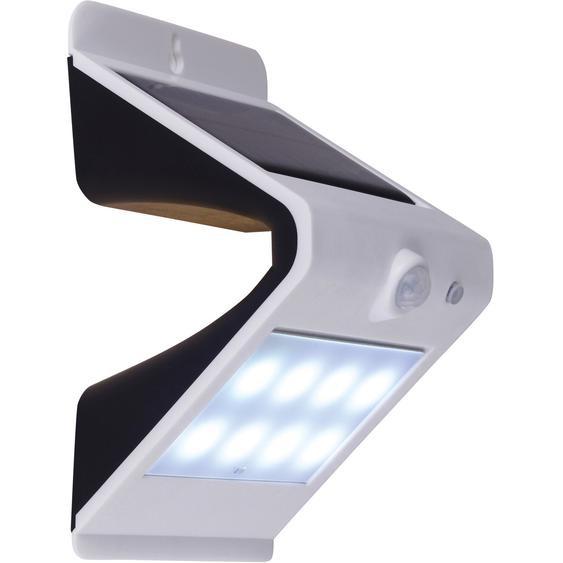 Näve LED-Solar-Wand-Außenleuchte mit Bewegungsmelder Grau EEK: A++
