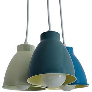 Näve Pendelleuchte Pinhead Metall Mehrfarbig Modern Rund Ø 13 cm 3-flammig E14