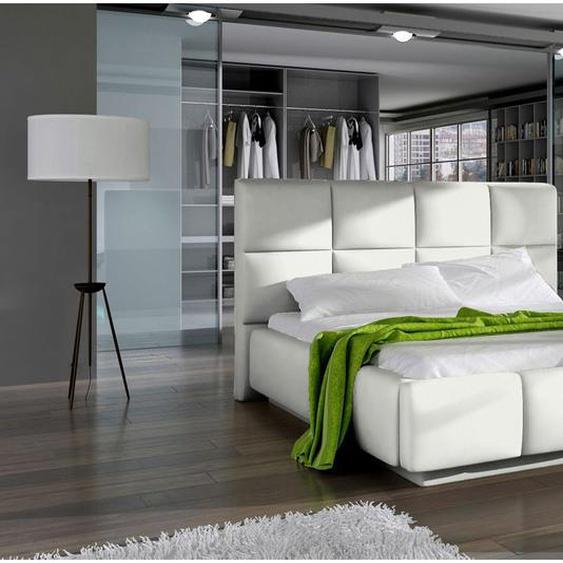 Naimi Polsterbett Weiß 140x200 ohne LED