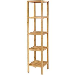 Nancys Badezimmerregal Bambus - Aufbewahrungsregal mit 5 Schichten - Badezimmerregal