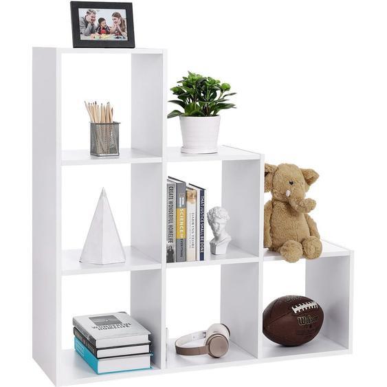Nancys Bücherregal 6 Fächer - Stufenschrank - Würfelschrank - Bücherregale