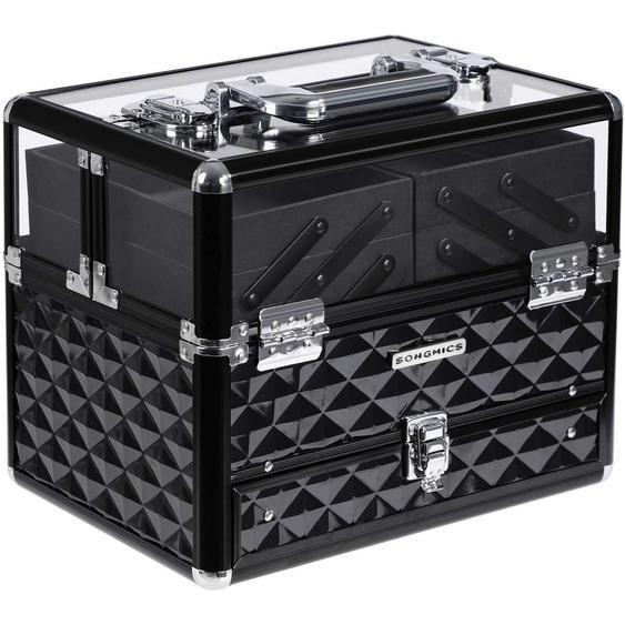 Nancys - Deluxe tragbare Make-up-Tasche - Aufbewahrungsbox mit ausziehbarer Schublade - Beauty-Tasche - Make-up-Kosmetik - tragbar - abschließbar mit Schloss - 30 x 20 x 23,5 cm
