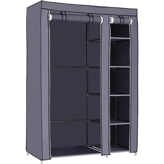 Nancys faltbarer Kleiderschrank Grau - Kleiderschrank - Kleiderschränke 175 x 110 x 45 cm