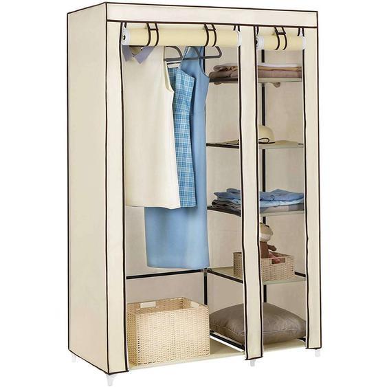 Nancys Garderobe - Rollbare Garderobe - Garderobe - Stoffschrank - Beige