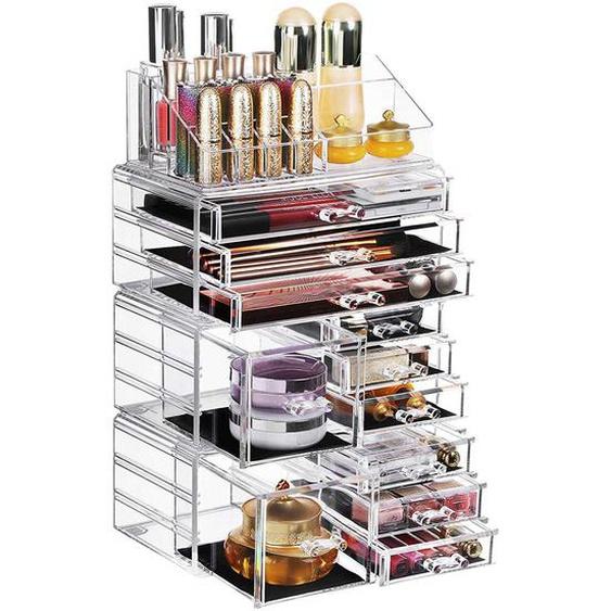 Nancys Make-up Organizer - Kosmetik Organizer - Aufbewahrungsbox - 4 separate Teile