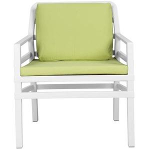 Nardi Aria Petit Sofa Loungesessel Kunststoff inklusive Kissen Weiß/Lime