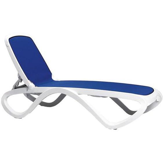 Nardi Omega Gartenliege Kunststoff/Textilene Weiß Blau