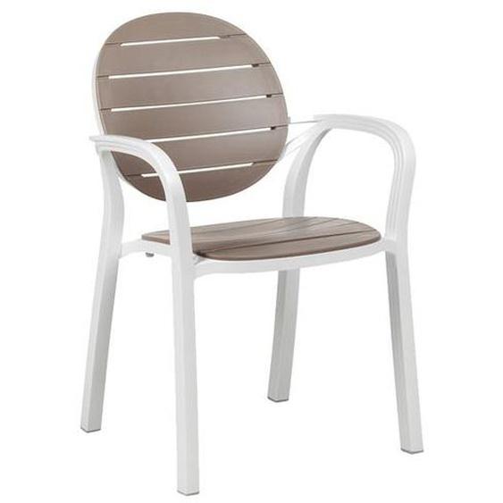 Nardi Palma Stapelsessel Kunststoff Weiß|Taupe