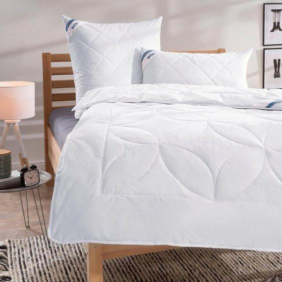 Naturfaserbettdecke, »Schurwolle 100«, Beco, Füllung: 100% Schurwolle, Bezug: 100% Baumwolle, natürliches Bettklima, Bezug aus reiner Baumwolle