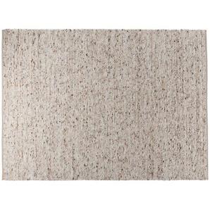 Handwebteppich  Bavaria ¦ grau ¦ Nutzschicht 100 % Schurwolle, 50 % Schurwolle, 50 % Jute, Jute, Wolle ¦ Maße (cm): B: 70 Teppiche  Wohnteppiche » Höffner