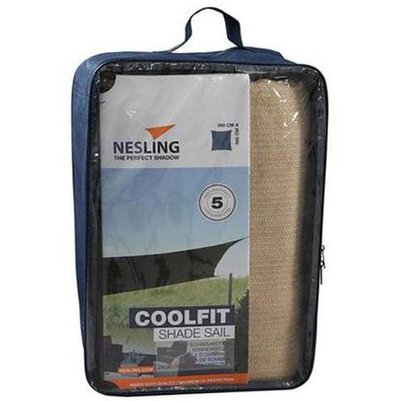 Nesling Coolfit Sonnensegel Quadrat 360x360cm HDPE Natur