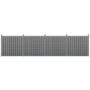 neu.holz Gartenzaun, (mit Pfosten), »Langreo« Lamellenzaun WPC Sichtschutz 185x747cm Grau