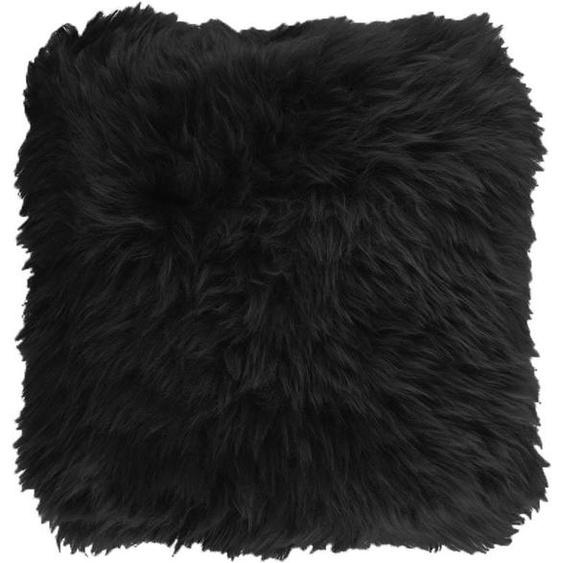 Neuseeland - Kissen aus Lammfell, schwarz, quadratisch 45*45 cm