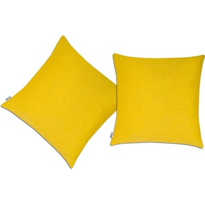 Neutex For You! Kissenhülle »Granat«, 2x 38x38 cm, gelb
