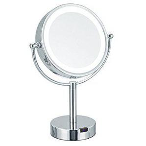 Schminkspiegel Spiegel 6 Cm Runden Doppelseitiges Edelstahl Falten Portable Nette Großen Kosmetikspiegel Hohe Belastbarkeit