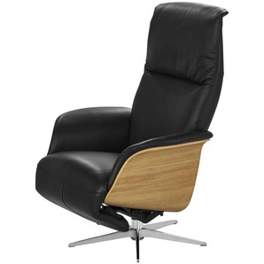 Relaxsessel schwarz - Leder Frederik ¦ schwarz ¦ Maße (cm): B: 78 H: 113 T: 79 Polstermöbel  Sessel  Fernsehsessel » Höffner