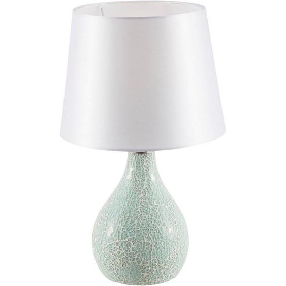 Nino Leuchten Tischleuchte »SUSA«, Metallsockel in Mosaikoptik, Stoffschirm