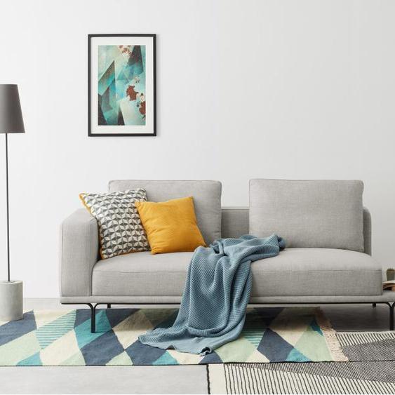 Nocelle 3-Sitzer Sofa mit Beistelltisch, Parisgrau