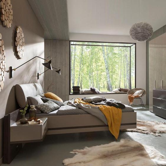 nolte Möbel Schlafzimmer-Set concept me 100 Liegefläche 120x200 grau Komplett Schlafzimmer Betten Schlafzimmermöbel-Sets