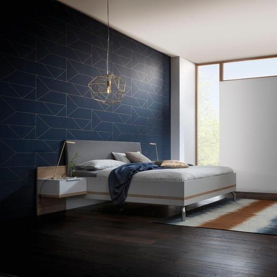 nolte Möbel Schlafzimmer-Set concept me 220 (Bett, Drehtürenschrank und 1. bzw. 2 Nachttischen) Liegefläche 180x200 weiß Komplett Schlafzimmer Betten Schlafzimmermöbel-Sets