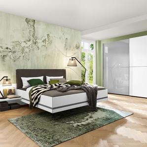 Nolte Möbel Schlafzimmer-Set, Weiß, Glas
