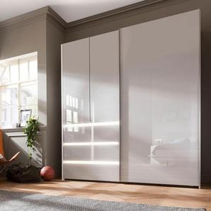 nolte Möbel Schwebetürenschrank concept me 320 0, 200 x 223 69 (B H T) cm, 3-türig, Mit Beleuchtung grau Schwebetürenschränke Kleiderschränke Schränke