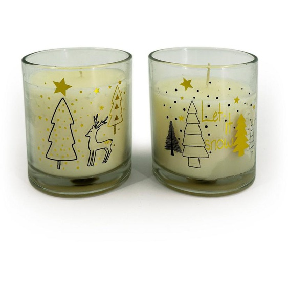 NOOR LIVING Duftkerze »Weihnachten« (Set, 2-tlg), Ø 9 cm, Höhe 10 cm
