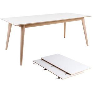 Nora - Esstisch ausziehbar, Weiß, 195/285 cm