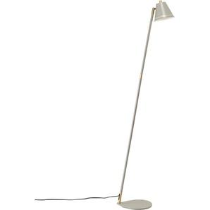 Nordlux Stehlampe PINE, GU10, Retro Industrial Design, Messing Applikationen 1 flg., Ø 14 cm Höhe: 133 grau Stehleuchten SOFORT LIEFERBARE Lampen Leuchten