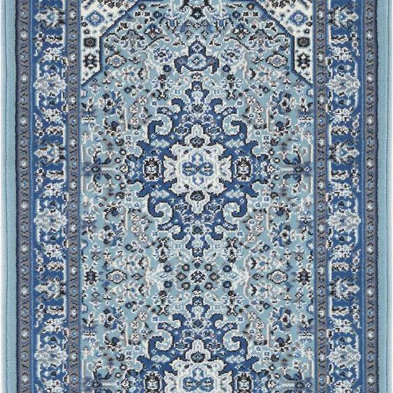NOURISTAN Läufer Skazar Isfahan, rechteckig, 9 mm Höhe, Kurzflor, Orient-Optik B/L: 80 cm x 250 cm, 1 St. blau Teppichläufer Bettumrandungen Teppiche