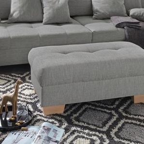 Nova Via Hocker 0, Aqua Clean Pascha, Mit Kaltschaum, Hockerbank braun Polsterhocker Nachhaltige Möbel