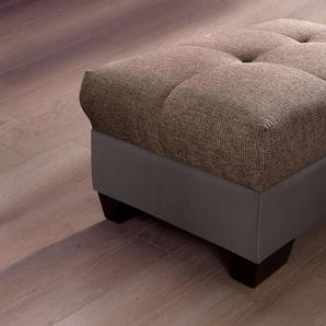Nova Via Hockerbank 0, Kunstleder SOFTLUX® / Struktur, Mit Kaltschaum, braun Polsterhocker Hocker Nachhaltige Möbel