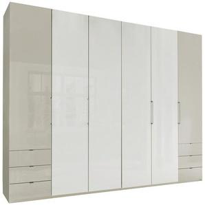 FALTTÜRENSCHRANK 6-türig Grau, Weiß