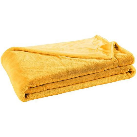 Novel Felldecke 150/200 cm Beige , Textil , Uni , 150x200 cm