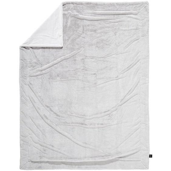 Novel Felldecke 150/200 cm Grau , Textil , Uni , 150x200 cm
